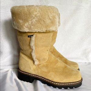 BLONDO Tan Shearling Suede boots 8.5